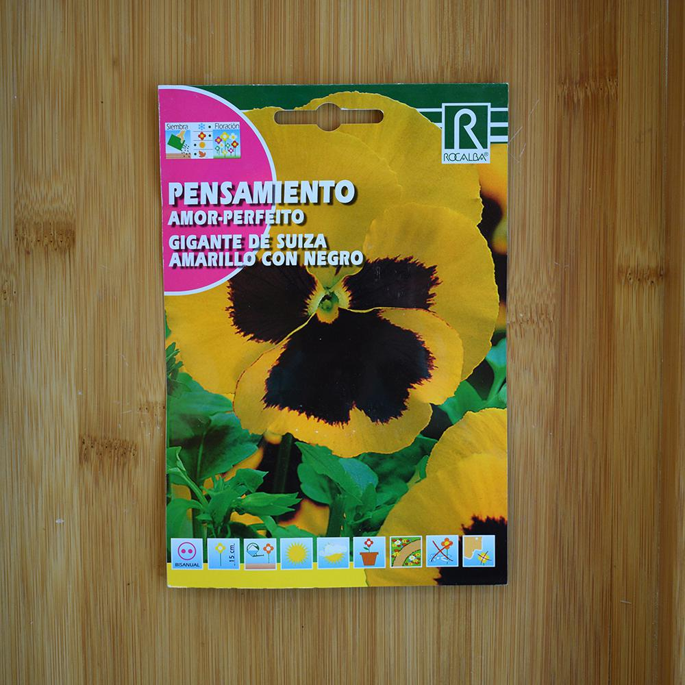 بذر گل بنفشه زرد و مشکی