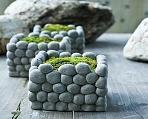 تزیین سبزه عید با سنگ